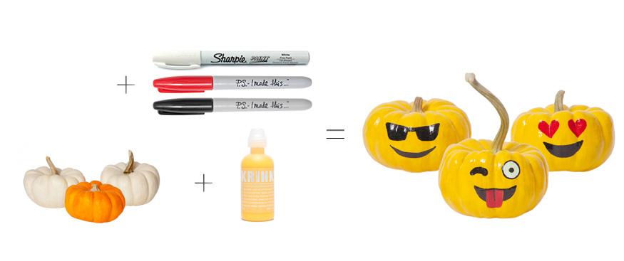 Mini Emoji Pumpkins