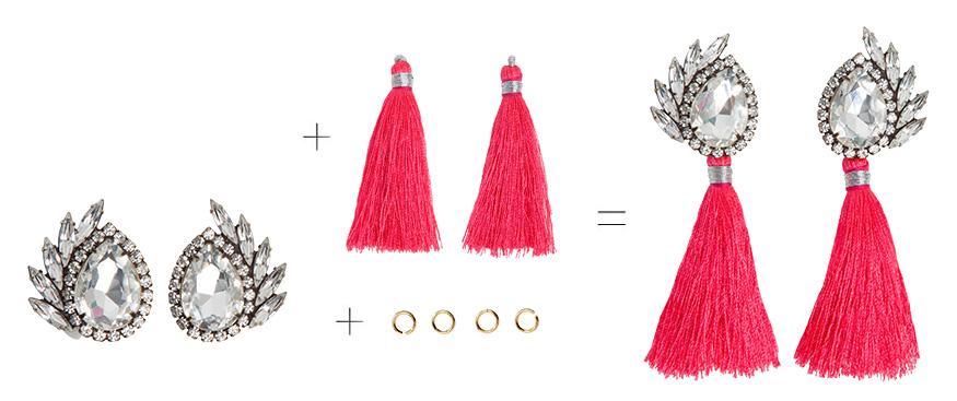 Tassel Gem Earrings