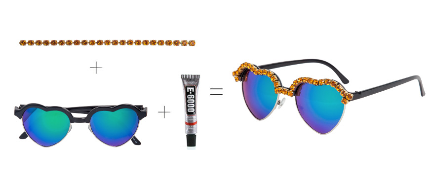 Crystal Chain Sunglasses