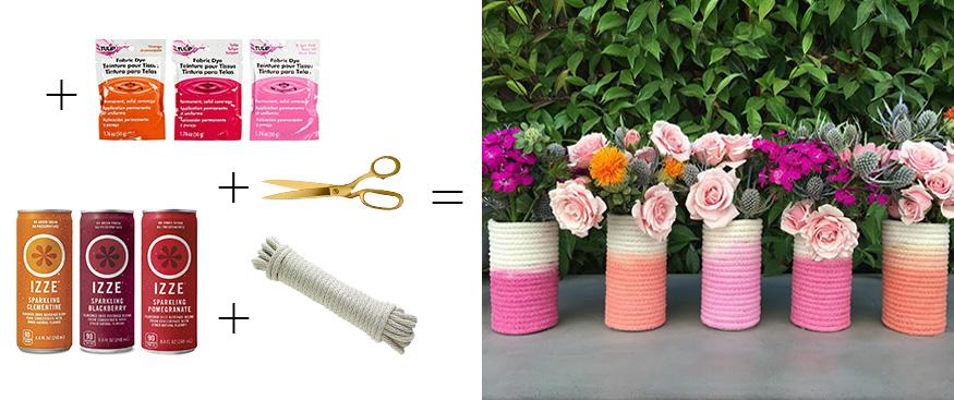 Dip Dye Rope Vase